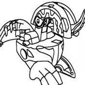 Бакуган раскраска 2