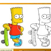 Барт раскраска