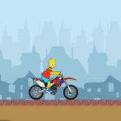 Барт Симпсон на мотоцикле