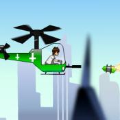 Бен 10 на вертолете