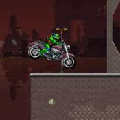 Черепашка ниндзя на мотоцикле