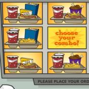 Донести поднос с едой
