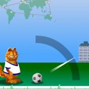 Гарфилд бросает мяч