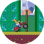 Гомер на мотоцикле