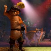 Кот в сапогах танцует
