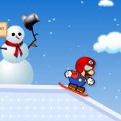 Марио на сноуборде