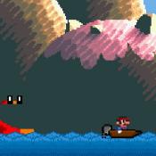 Марио в лодке