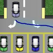 На машине за линией