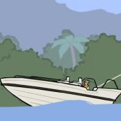 На парашюте за лодкой