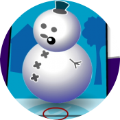 Наряди снеговика