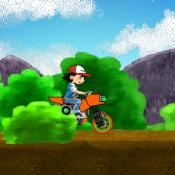 Покемоны на мотоцикле