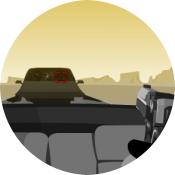 Стрельбище Винни: пустынная дорога